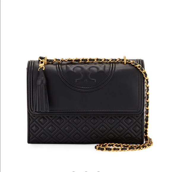 Tory Burch Handbags - Tory Burch Black Fleming Convertible Shoulder Bag